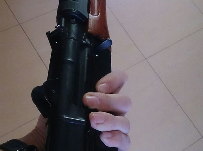 Railed Handguard for AK74u (low profile version) 3d printed