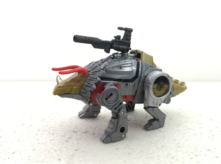 POTP Slug G1 Styled Blaster 3d printed Painted model shown