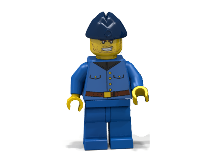 Oversea Cap 3d printed RAF member (Render of an example Usage)