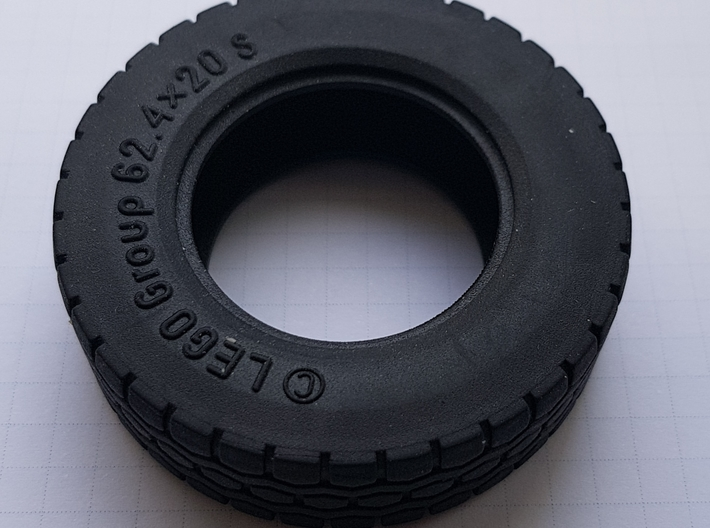 Felge Rim for 1:14 Tamiya / Lego Tire 62.4 x  3d printed