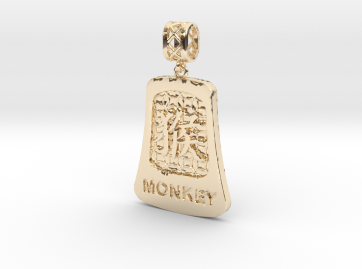 Chinese 12 animals pendant with bail - themonkey 3d printed