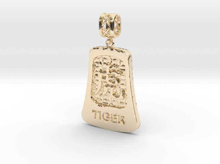 Chinese 12 animals pendant with bail - thetiger 3d printed