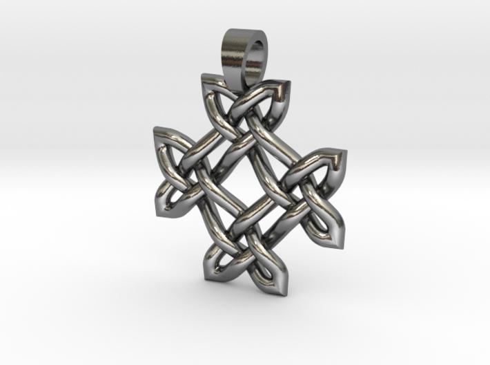 Crossing celtic knot [pendant] 3d printed
