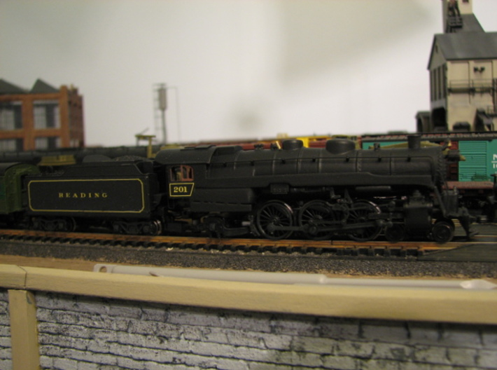 N Scale Reading G3 Steam Locomotive Shell 3d printed Finished model on a PRR K4 mechanism from Bachmann