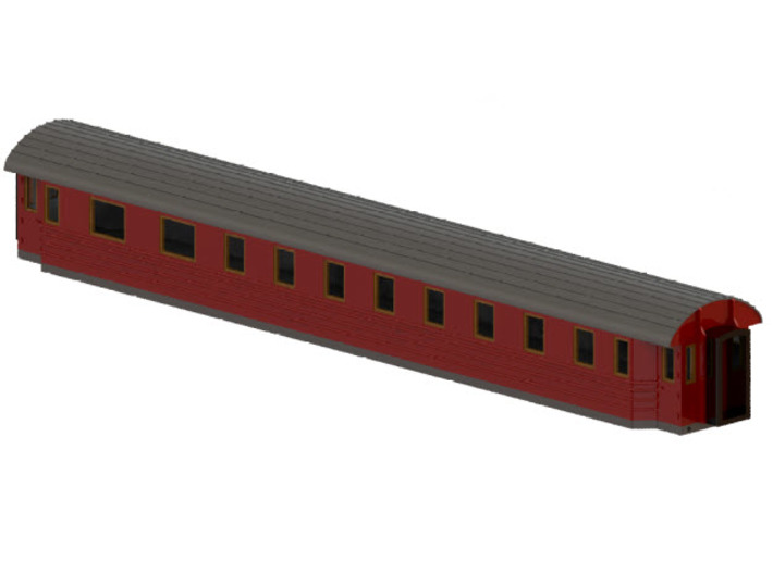 BCo11b - Swedish passenger wagon 3d printed CAD-model