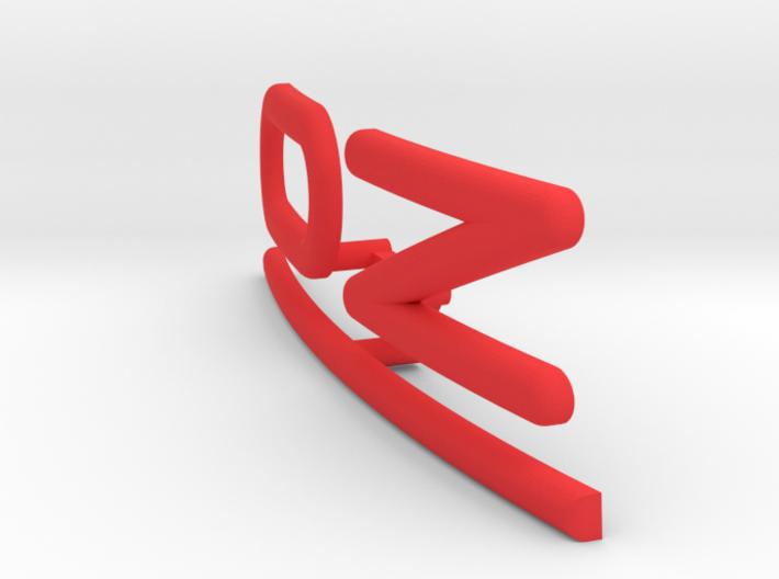 OZ Emblem for center cap curved 3d printed