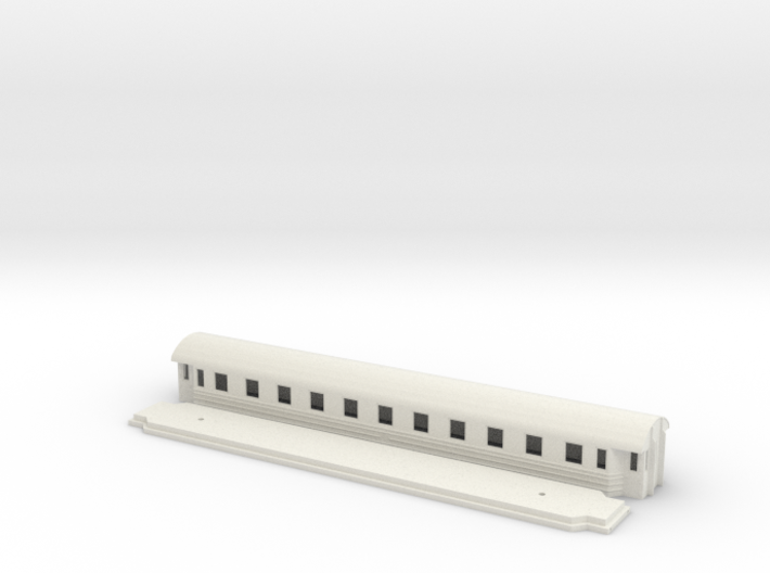 Co9b - Swedish passenger wagon 3d printed