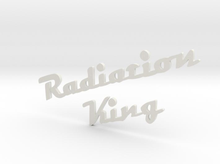 radiation king logo 3mm thick 3d printed