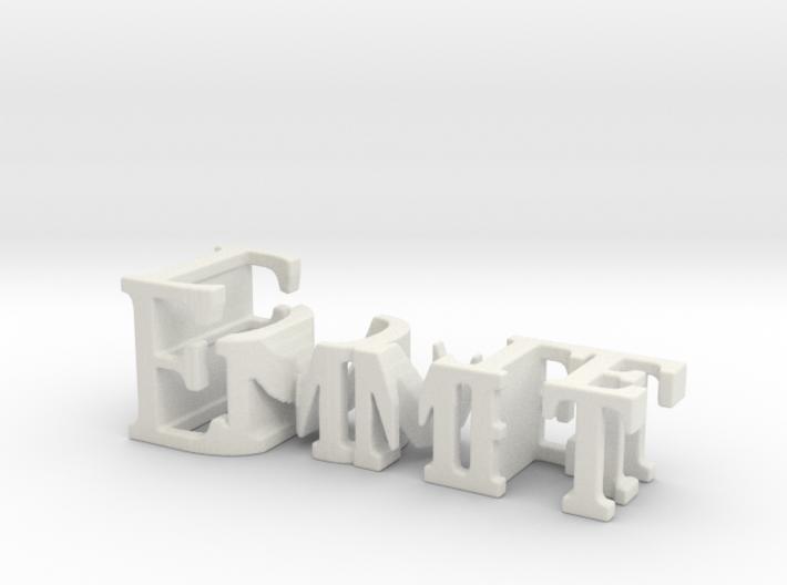 3dWordFlip: Emmet/Doyle 3d printed