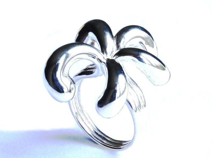 Water Drops Ring (From $15) 3d printed Water Drops Ring Silver Jewellery