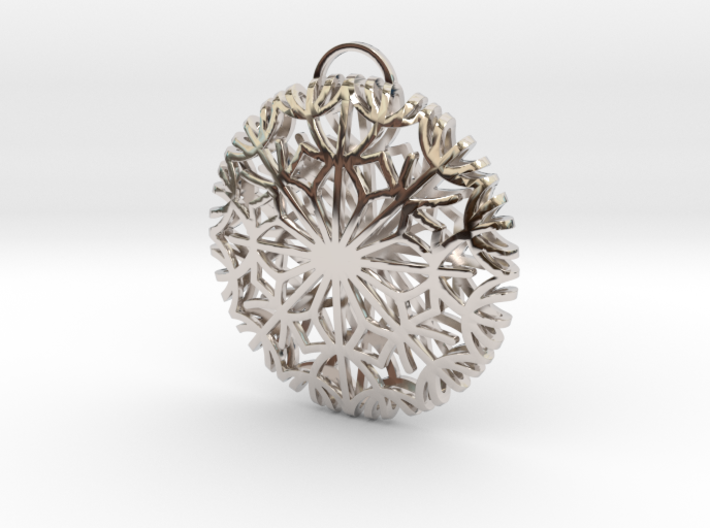 Dandelion seeds pendant(32mm) 3d printed