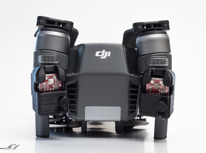 Strobon Cree Standalone Mavic Pro Enclosure 3d printed Allows you to fold the drone up without taking the enclosures off