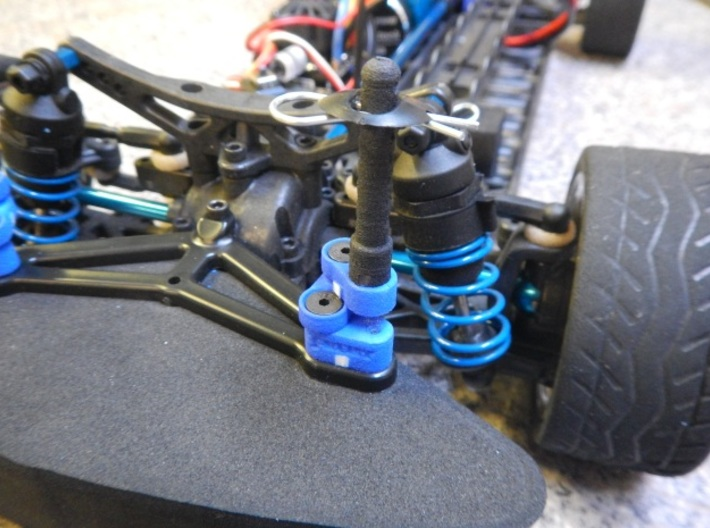 TC4 Adjustable Body Posts Front  3d printed