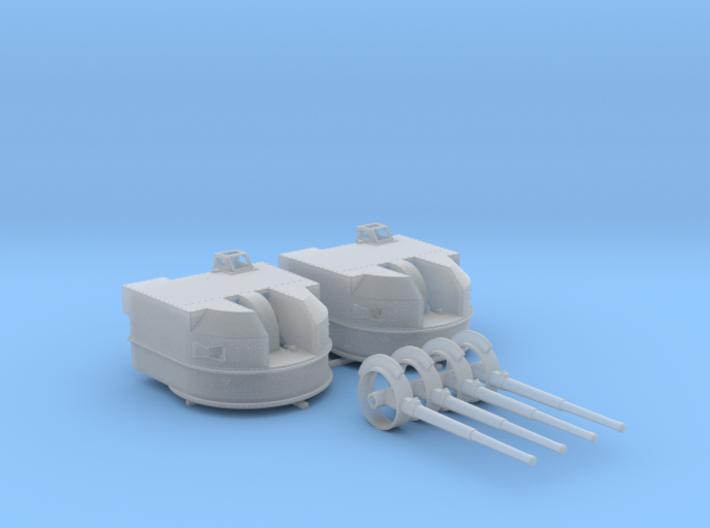 "1/128 Battle Class 4.5""/45 QF MKIV RP10 Gun x2 3d printed 1/128 Battle Class 4.5""/45 QF MKIV RP10 Gun x2"