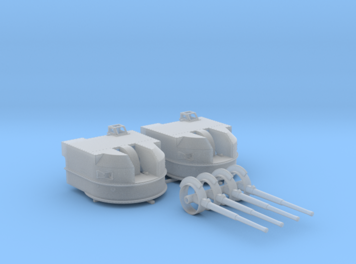 "1/144 Battle Class 4.5""/45 QF MKIV RP10 Gun x2 3d printed 1/144 Battle Class 4.5""/45 QF MKIV RP10 Gun x2"