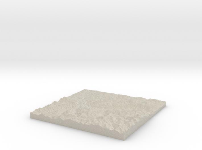 Model of Unterseen, Schiessstand Lehn 3d printed