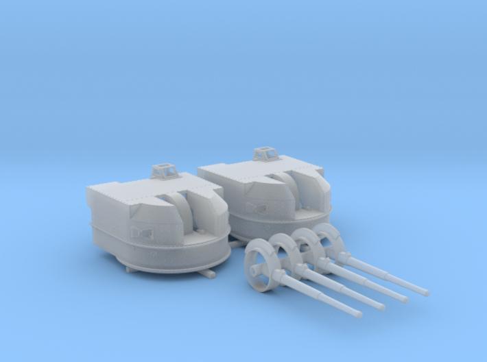 "1/200 Battle Class 4.5""/45 QF MKIV RP10 Gun x2 3d printed 1/200 Battle Class 4.5""/45 QF MKIV RP10 Gun x2"