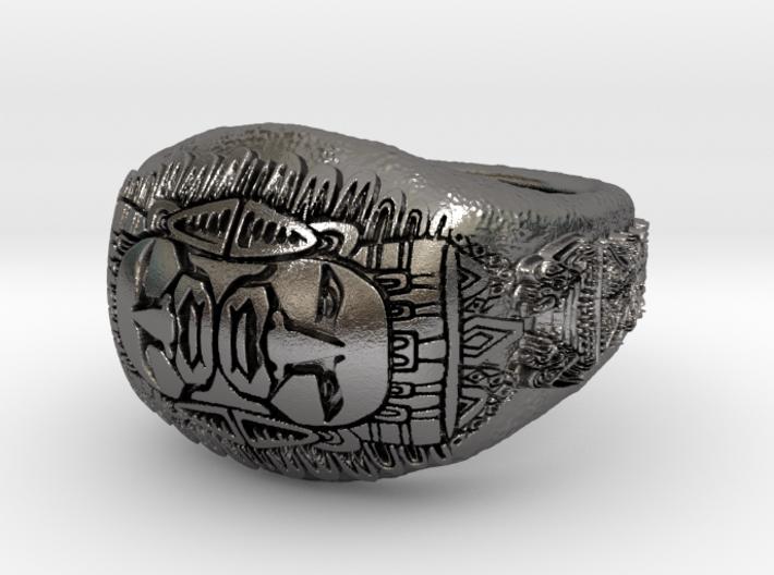 Azteca ring 3d printed