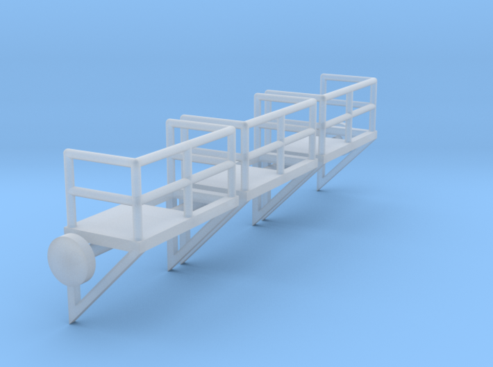 N Scale Cage Ladder Platform Right 3pc 3d printed