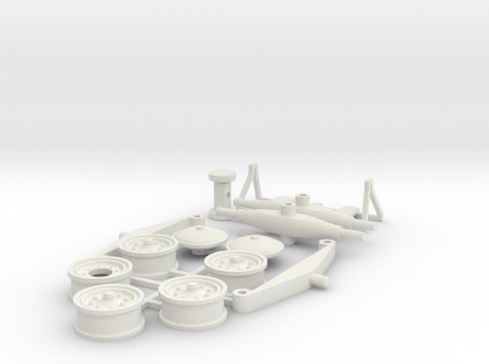 DAF HD10 oplegger parts 3d printed