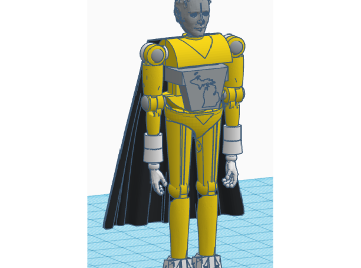 Cavalieri Cape for Microman and Micronauts figures 3d printed
