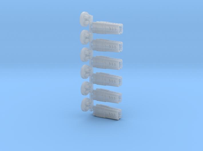 Gatling Barrels Cover (Blended barrels) 3d printed