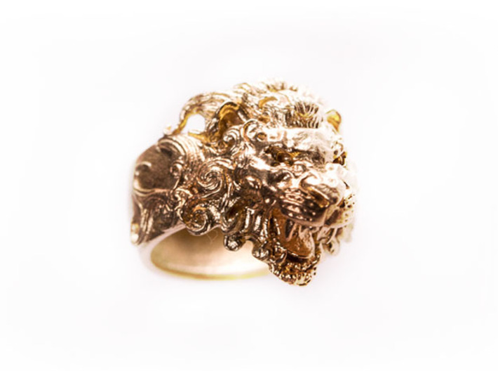 Roaring Lion King of Jungle Ring  3d printed