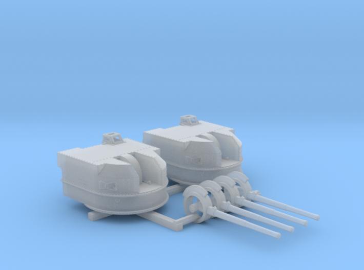 "1/350 Battle Class 4.5""/45 QF MKIV RP10 Gun x2 3d printed 1/350 Battle Class 4.5""/45 QF MKIV RP10 Gun x2"