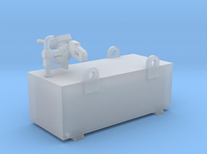 Condor 600 Litre Aluminium Diesel Tank Kit 1-87 HO 3d printed