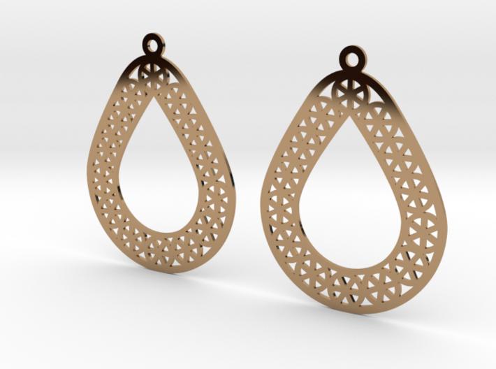 Modern Wagon Wheel Teardrop Earrings 3d printed