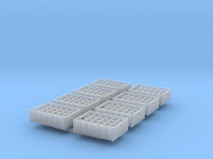 1:48 24 bottle crate V2 - 8ea 3d printed