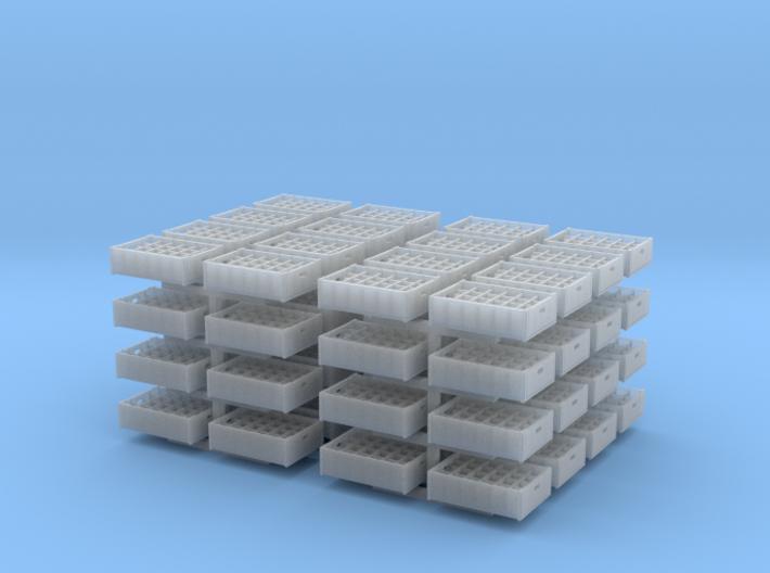 1:48 24 bottle crate V2 - 64ea 3d printed