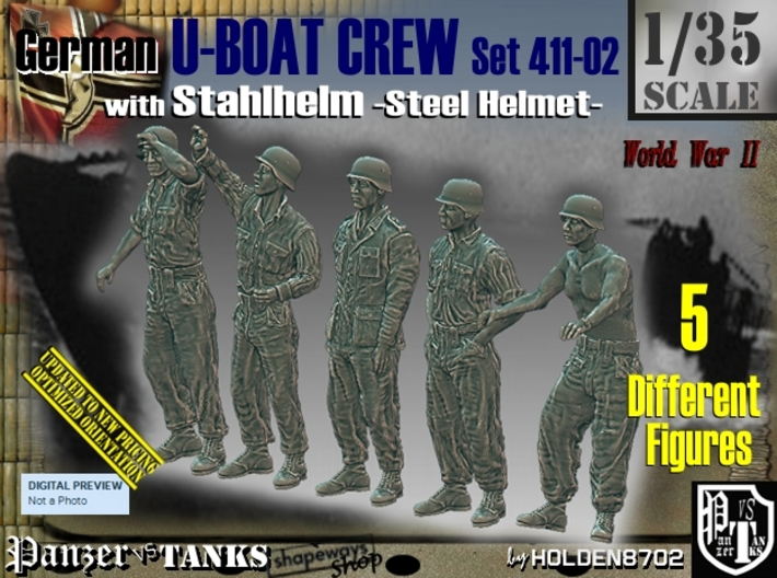 1/35 German U-Boot Crew Set411-02 3d printed