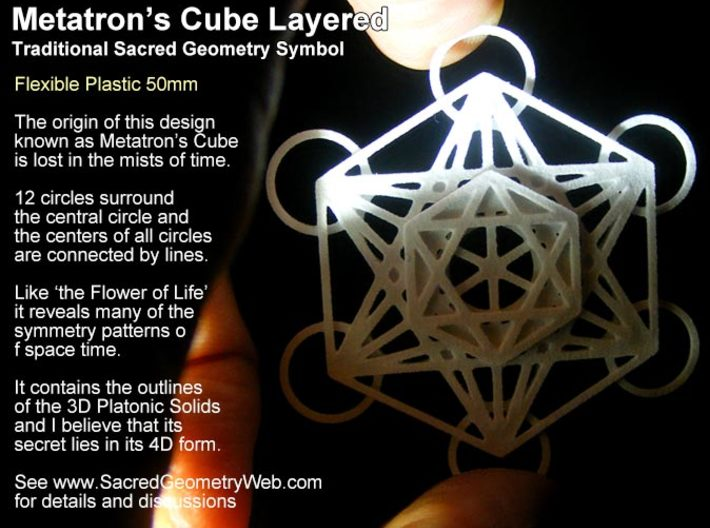 Metatrons Cube Layered 50mm 3d printed