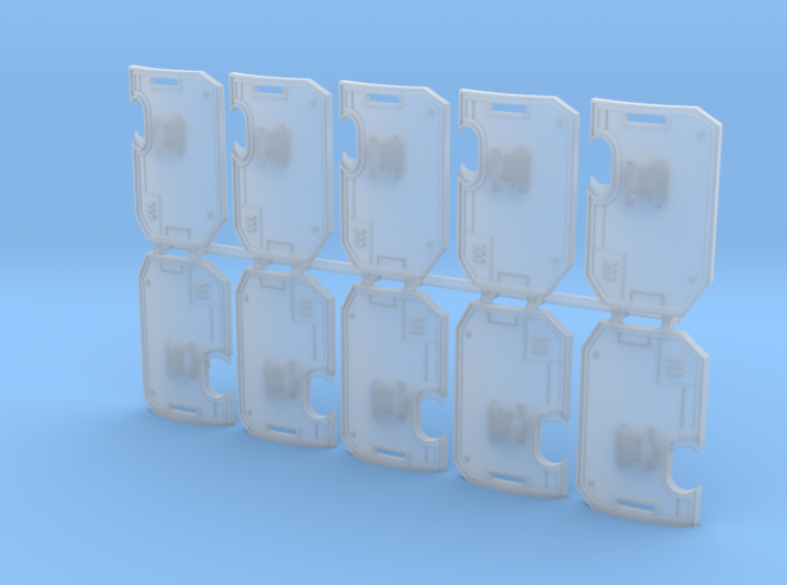 10x Blank : Human-sized Boarding Shields w/Hand 3d printed