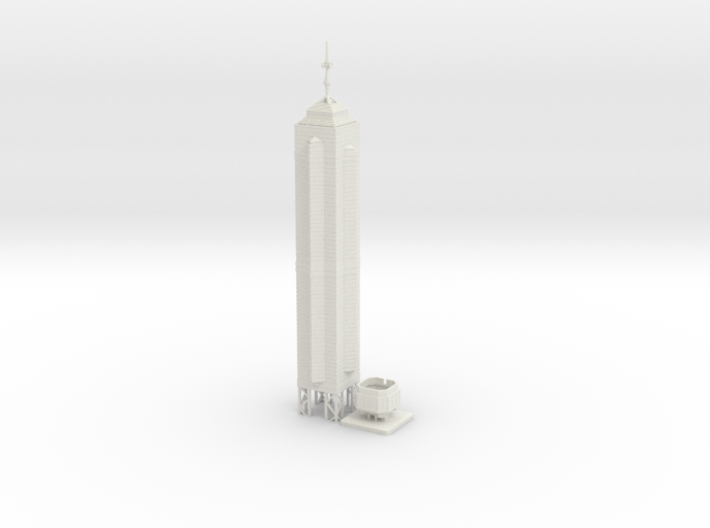The Centre (1:2000) 3d printed