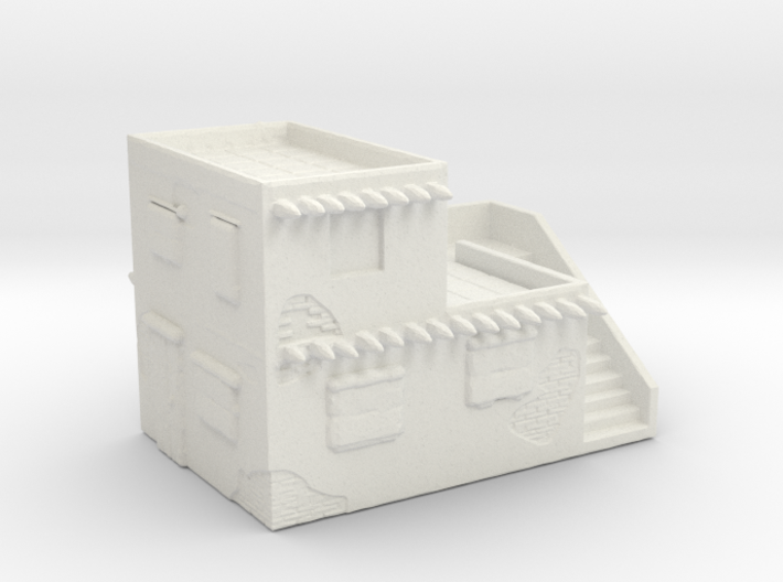 Adobe Garrision - 2-story flat with stair access 3d printed
