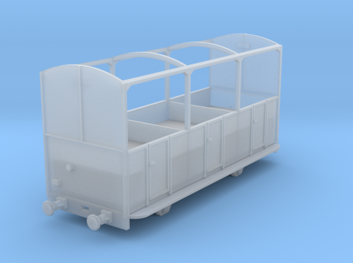 5.5mm Talyllyn Semi-open Carriage No 8-12 3d printed