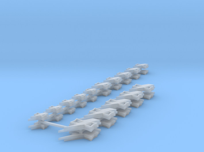 White Scars icons various sizes 3d printed