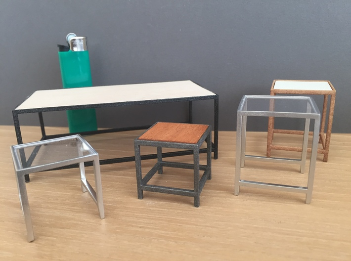 1:12 Table Lounge / Coffee rectangular  3d printed Variations and possibilities