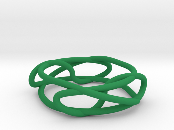 Two Linked Trefoils 3d printed