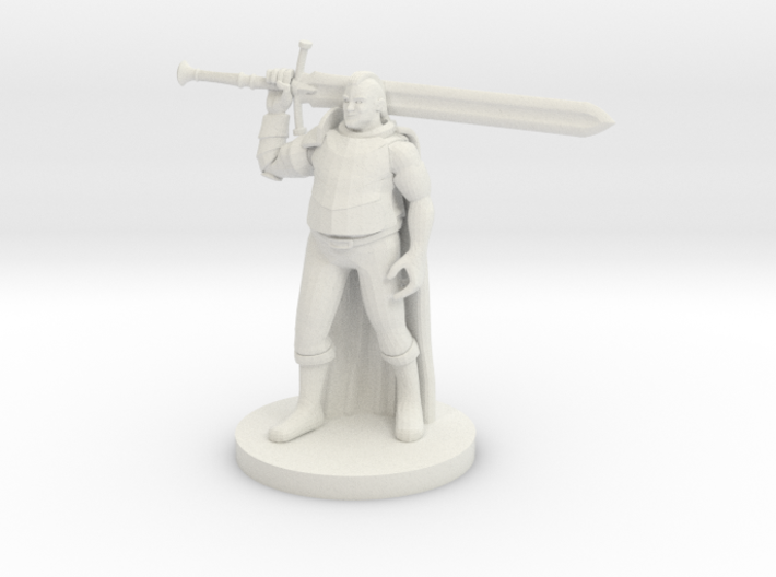 Fluffy Paladin with a big Sword 3d printed