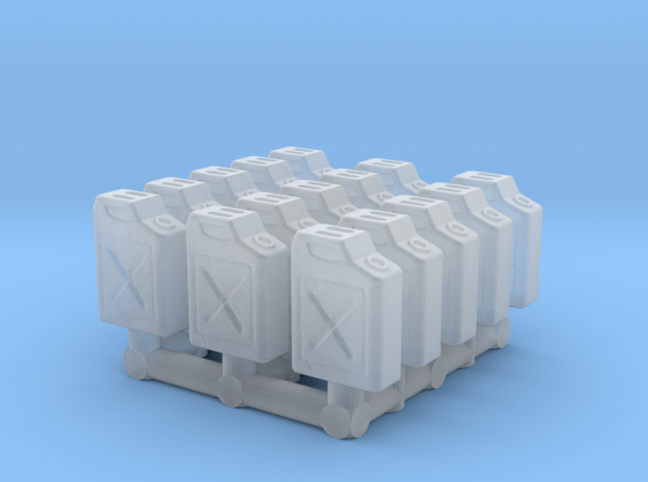 1/87 Scale Fuel Jerry Cans 3d printed