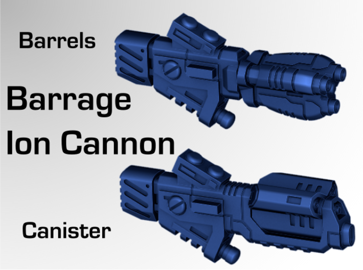 Barrage Ion Cannon 3d printed Overview