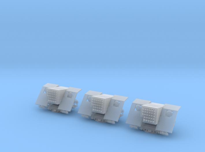 1/144 IJN 12cm AA Rocket mounts Set x3 3d printed