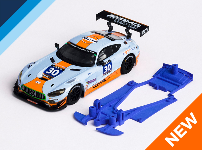 1/32 Scalextric AMG Mercedes GT3 Chassis NSR pod 3d printed Chassis compatible with Scalextric AMG Mercedes GT3 body (not included)