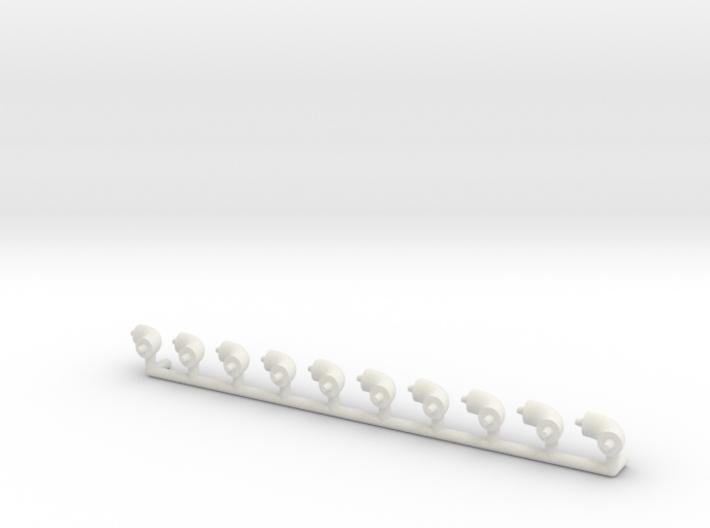 "ø2.4mm 3/32"" Pipe Fittings 90° 10pc 3d printed"