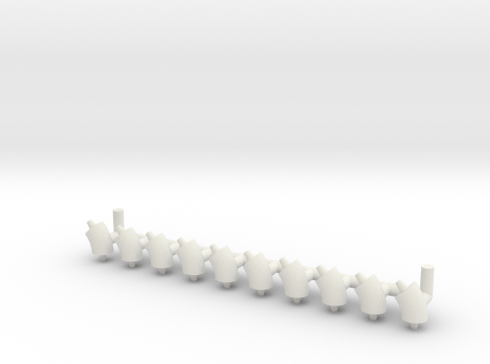 "ø2.4mm 3/32"" Pipe Fittings 45° 10pc 3d printed"