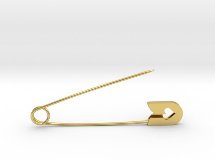 Fashion safety pin 3d printed