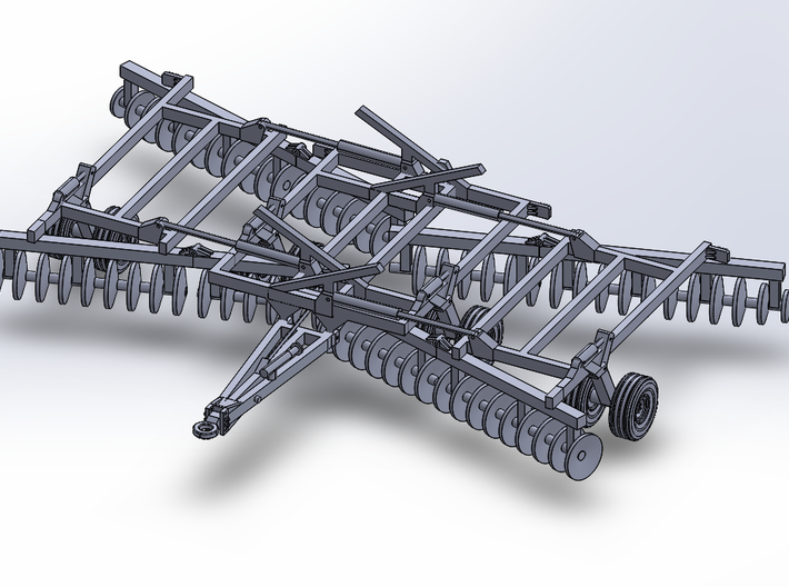 32' HD Double-Offset Folding Disc Harrow - Working 3d printed